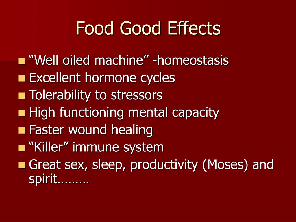 Food Good Effects