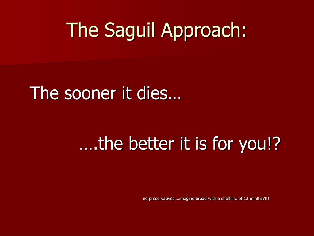 The Saguil Approach: