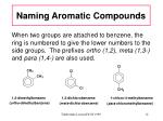 naming aromatic compounds12
