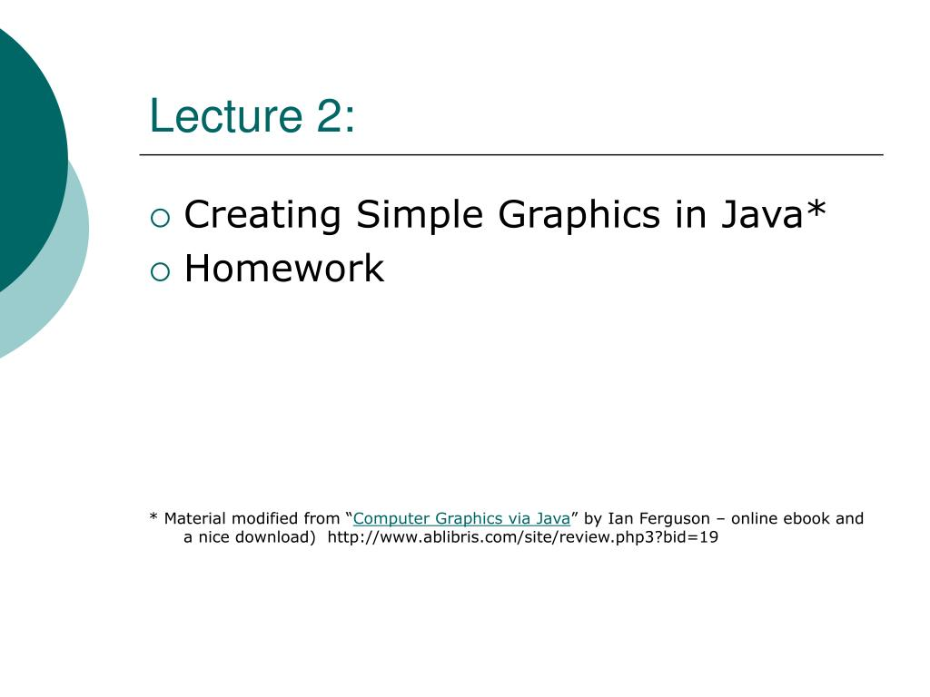 Lecture 2: