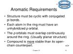 aromatic requirements