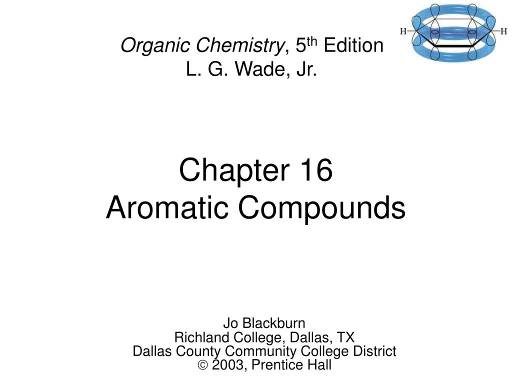 chapter 16 aromatic compounds l.