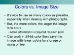 colors vs image size