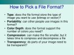 how to pick a file format