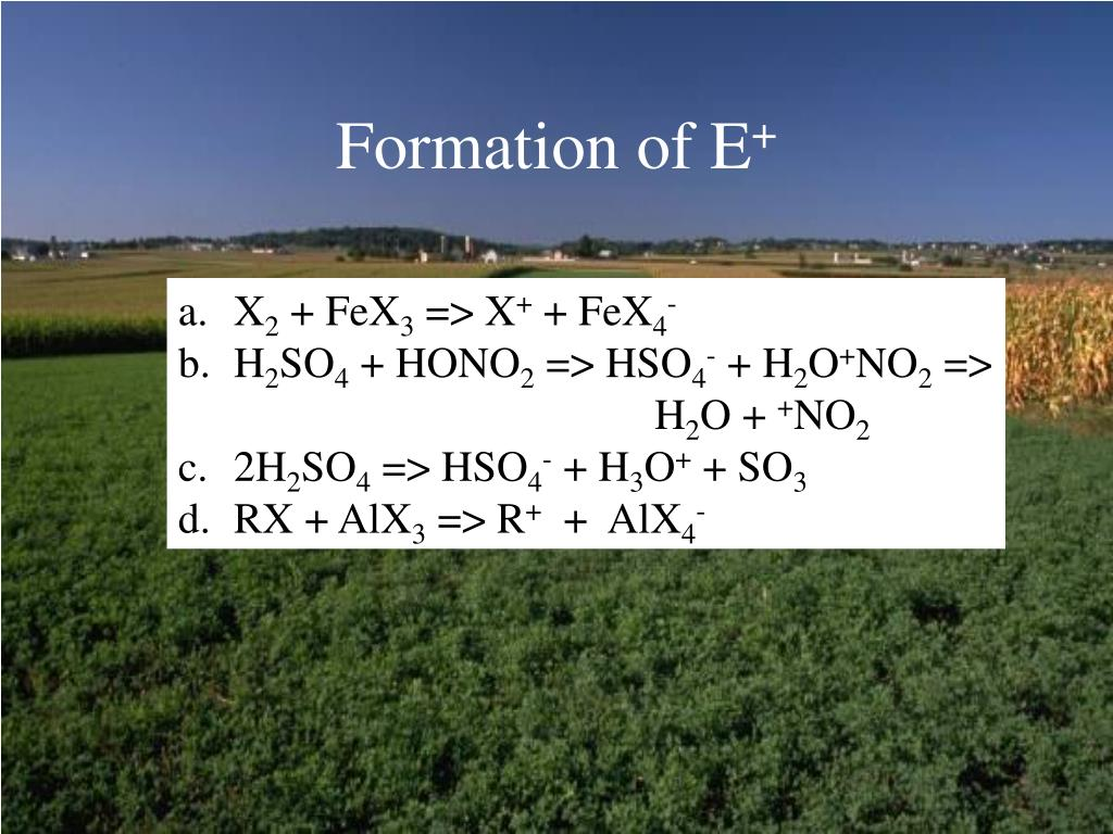 Formation of E