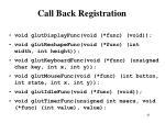 call back registration