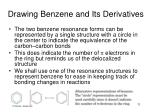 drawing benzene and its derivatives