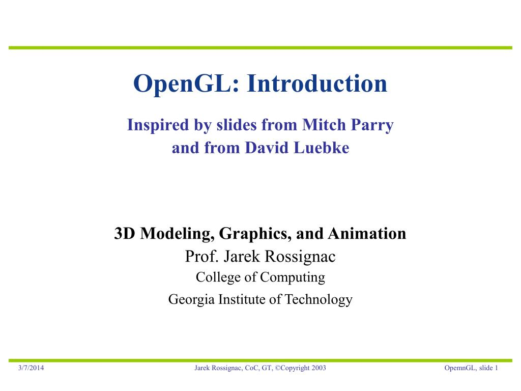 opengl introduction l.