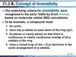 21 2 a concept of aromaticity
