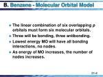 b benzene molecular orbital model