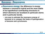 benzene resonance