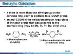 benzylic oxidation