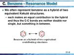 c benzene resonance model