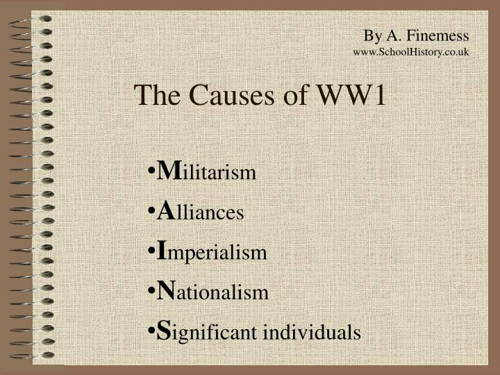 the causes of ww1 n.
