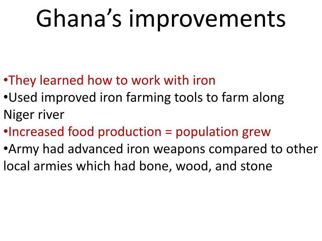 Ghana's improvements