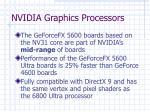 nvidia graphics processors