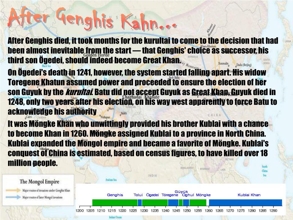 After Genghis Kahn...