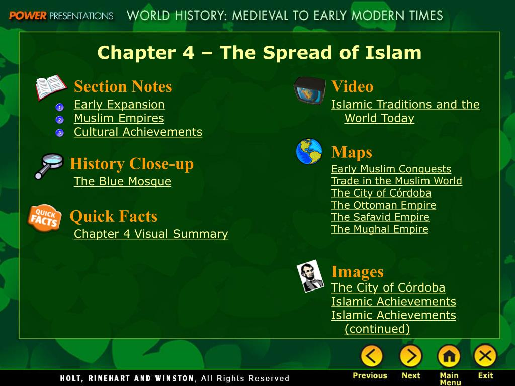Chapter 4 – The Spread of Islam