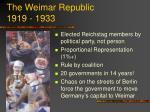 the weimar republic 1919 1933