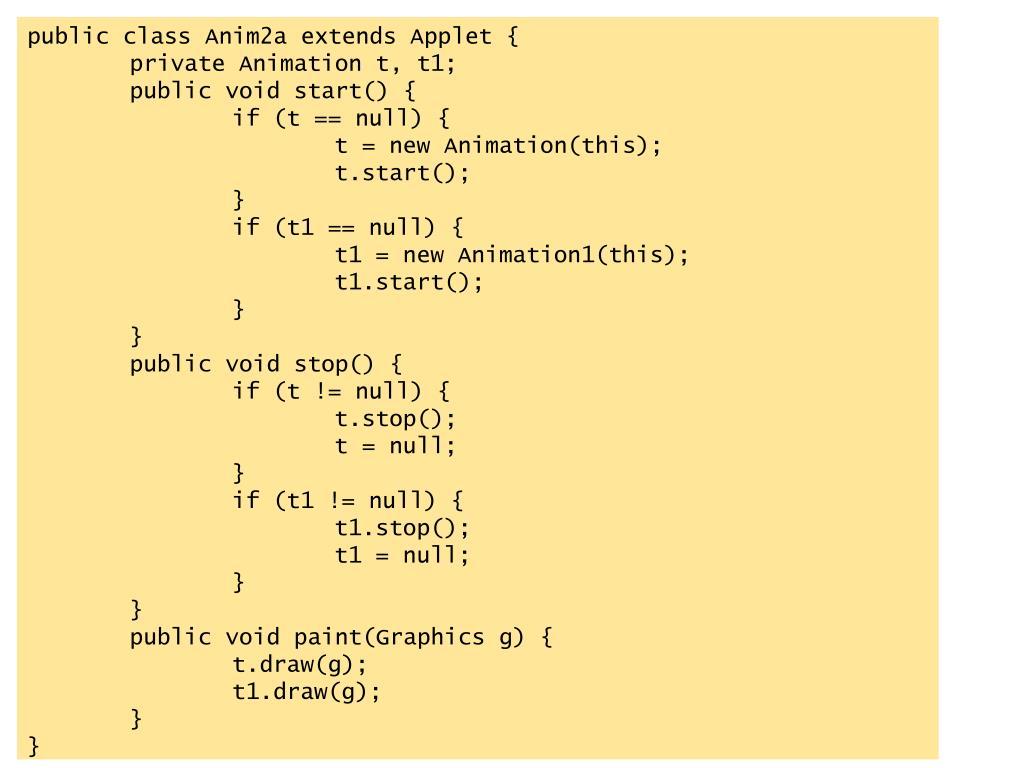 public class Anim2a extends Applet {
