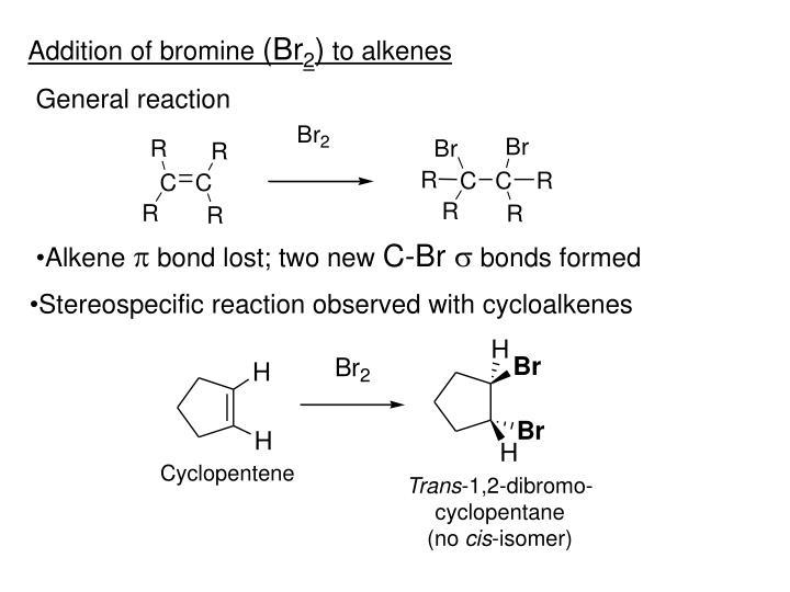 Addition of bromine