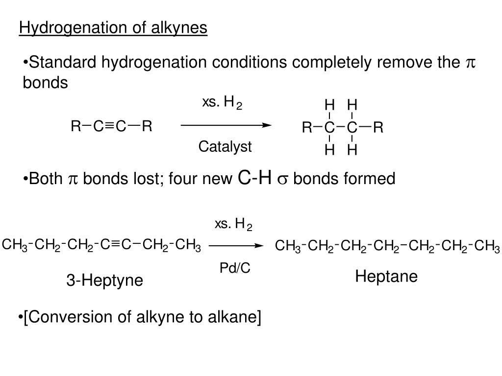Hydrogenation of alkynes