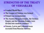 strengths of the treaty of versailles