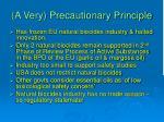 a very precautionary principle16