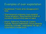 examples of over exploitation