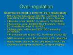 over regulation10