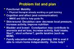 problem list and plan65