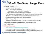 credit card interchange fees