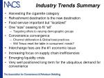 industry trends summary