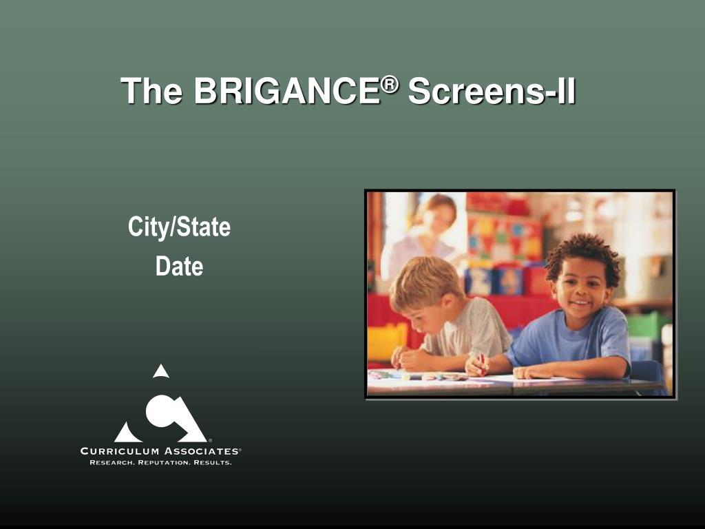 the brigance screens ii l.