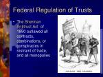 federal regulation of trusts
