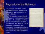 regulation of the railroads