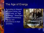 the age of energy