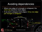 avoiding dependencies