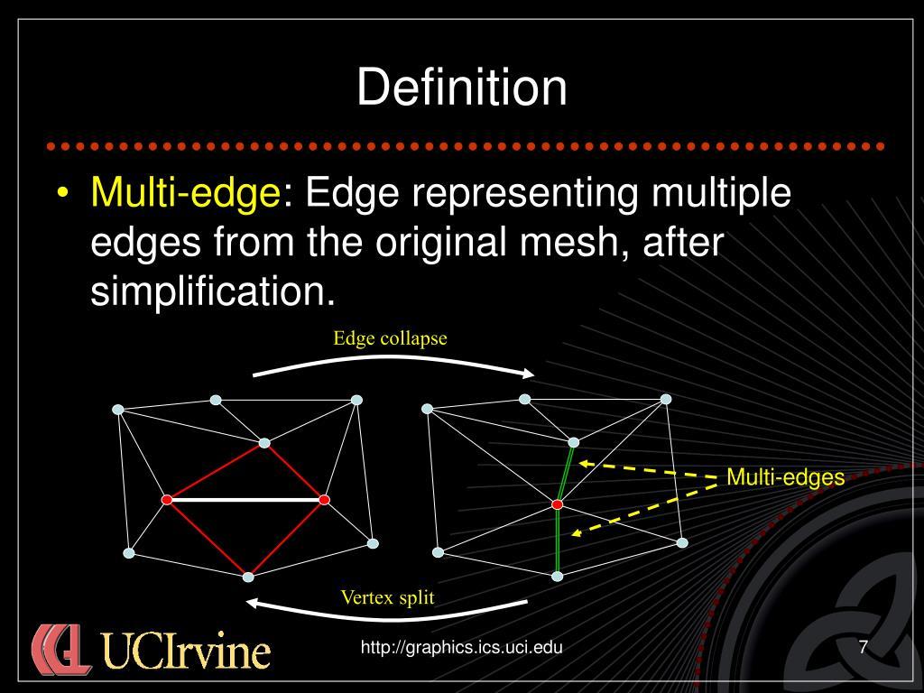 Multi-edges