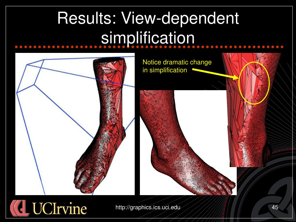 Results: View-dependent simplification