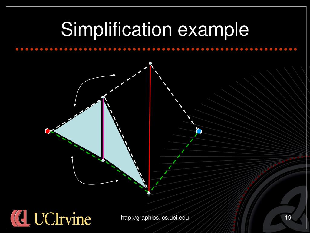 Simplification example