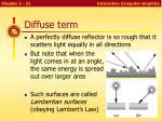 diffuse term