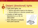 distant directional lights