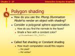 polygon shading