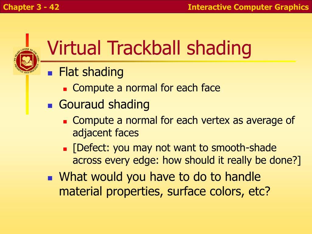 Virtual Trackball shading
