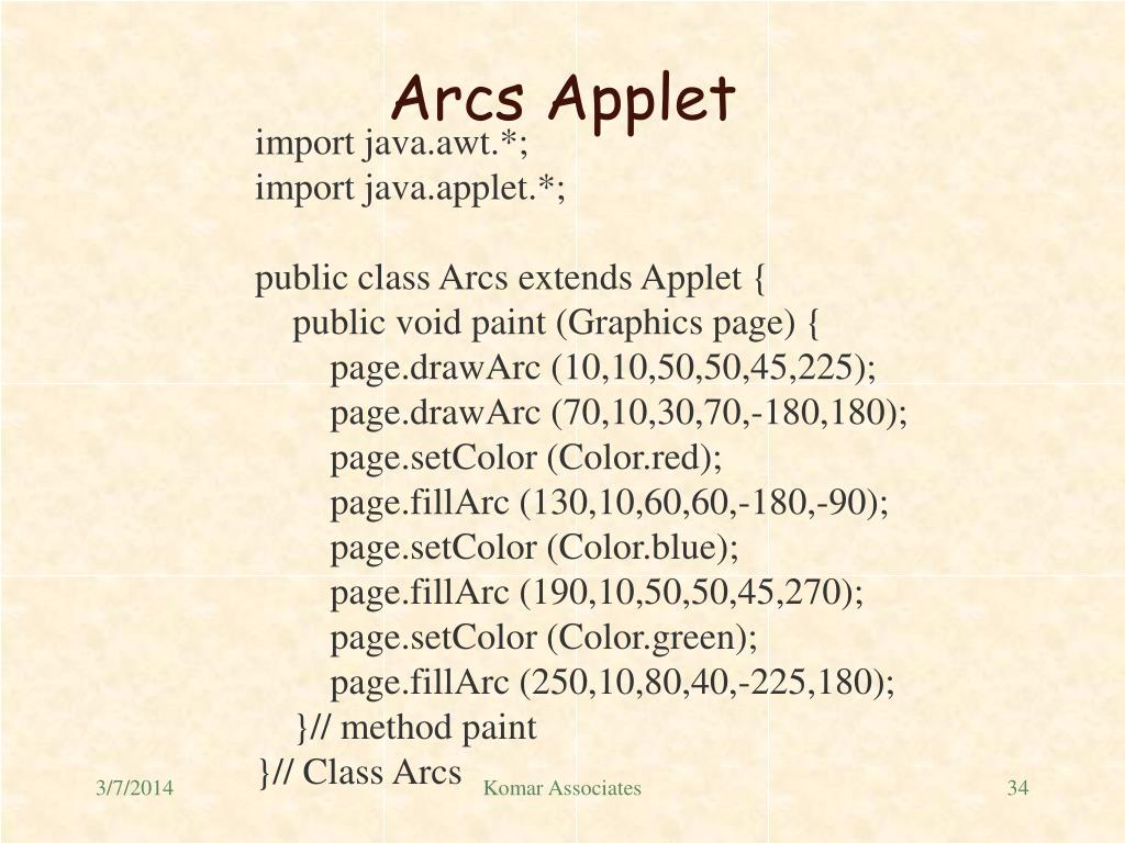 Arcs Applet