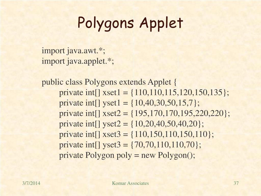 Polygons Applet