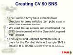 creating cv 90 sns
