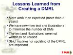 lessons learned from creating a dmrl