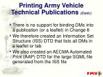 printing army vehicle technical publications cont